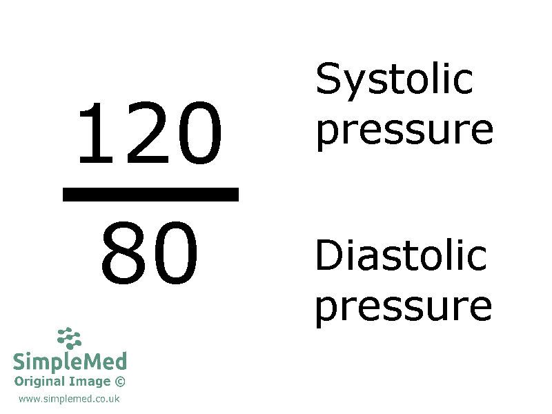 Systole and Diastole Blood Pressure SimpleMed