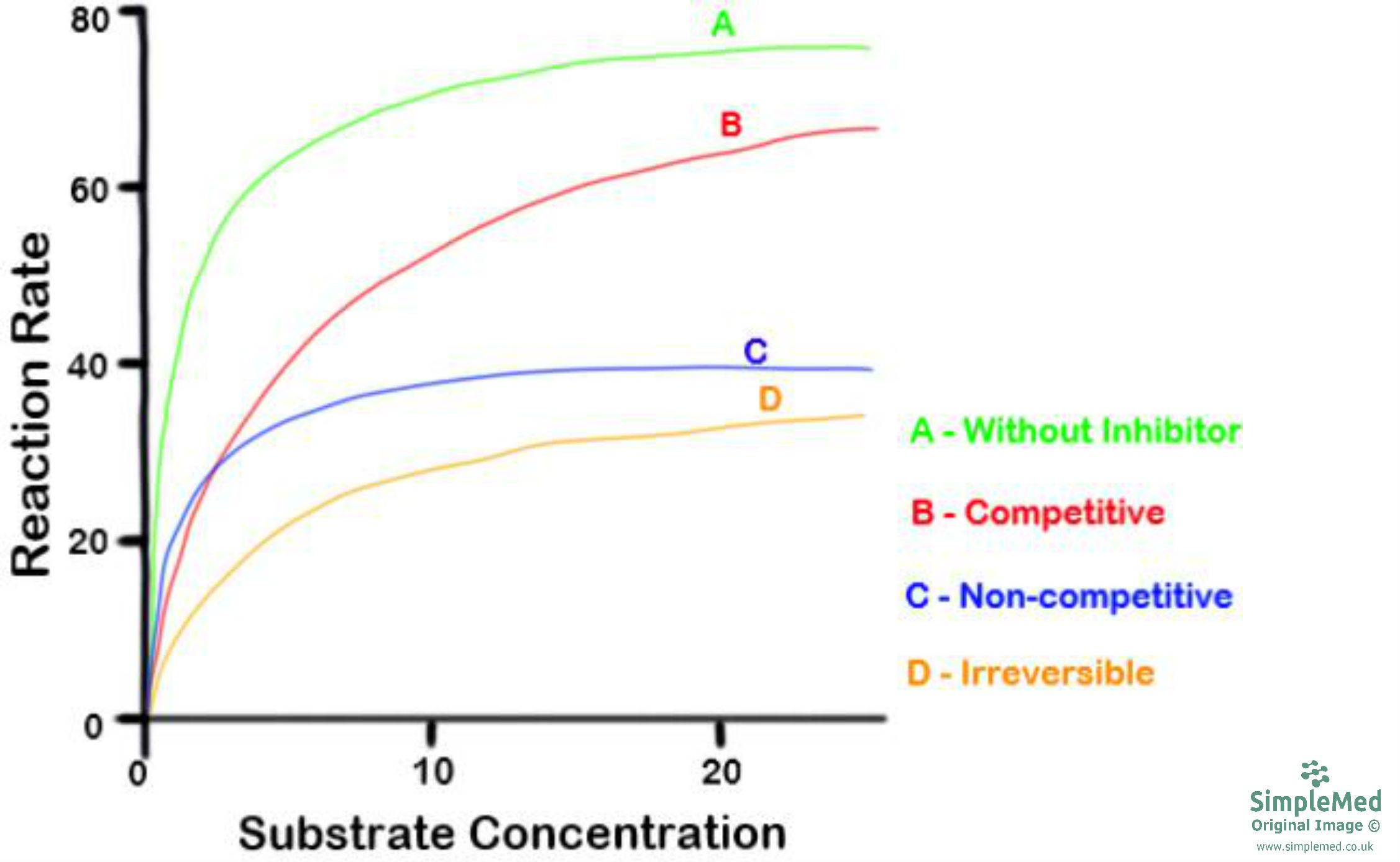 Enzyme Inhibitors Graph SimpleMed